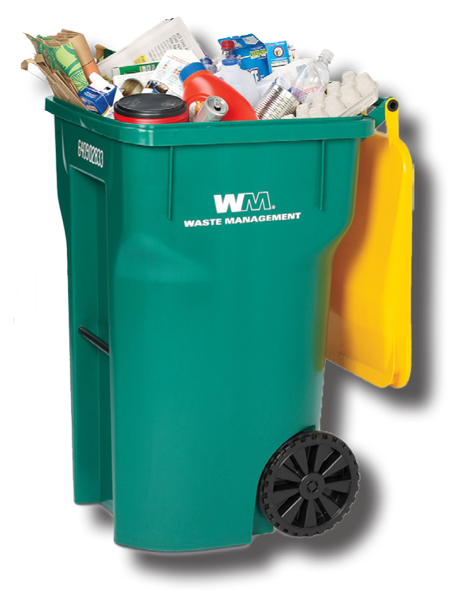All homes in the city are provided with two 96 gallon cans  one for trash   green lid  and one for recycling  yellow lid. Trash   Recycling   City of Commerce  CO