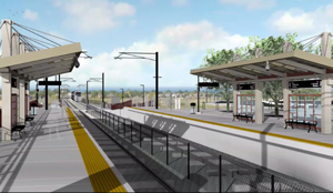 RTD station rendering