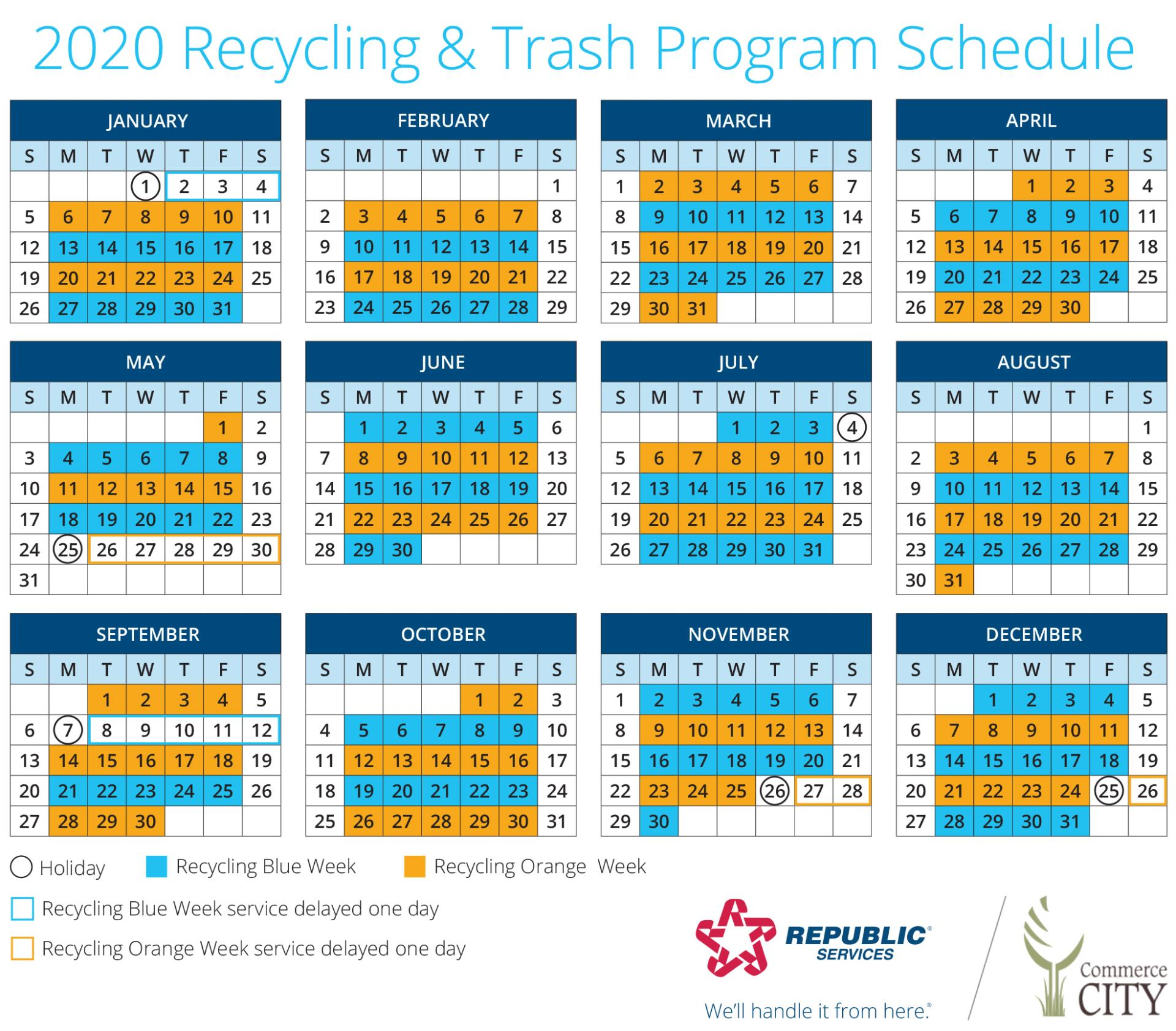 Republic Waste Pickup Christmas 2020 Trash & Recycling | City of Commerce City, CO